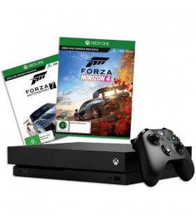 CONSOLE XBOX ONE X 1TB BLACK/GAME FORZA H4&MS7 MICROSOFT