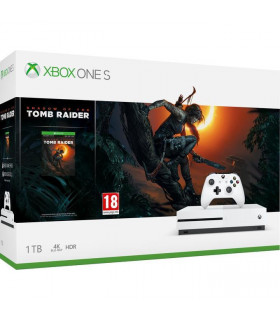 CONSOLE XBOX ONE S 1TB WHITE/GAME S O TOMB RAIDER MICROSOFT