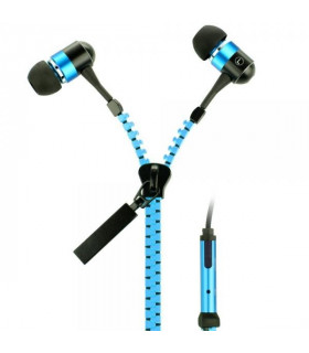 Zip Earphones -Blue
