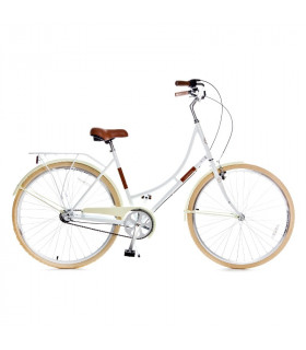 Holland 3 speed 700Cx35C, white/brown 28
