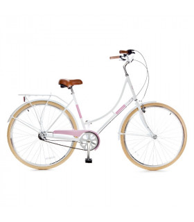 Holland 3 speed 700Cx35C, white/pink 28