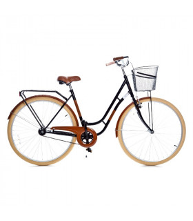 Holland single speed, black/brown 28''