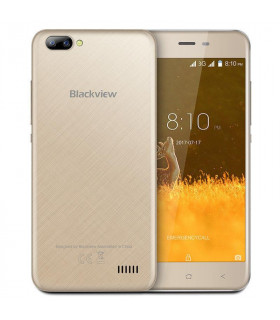 Smartphone  BLACKVIEW  A7  8 GB  Gold  3G  OS Android 7 0  Screen  5   720 x 1280  IPS-LCD  Dual SIM  1xMicro-USB  1xHeadphones