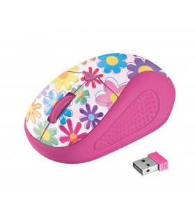 MOUSE USB OPTICAL WRL PRIMO/PINK FLOWER 21481 TRUST