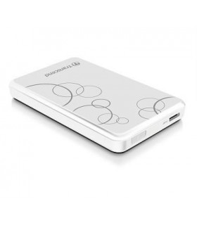 External HDD  TRANSCEND  StoreJet  1TB  USB 3 0  Colour White  TS1TSJ25A3W