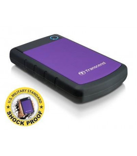 External HDD  TRANSCEND  StoreJet  2TB  USB 3 0  Colour Purple  TS2TSJ25H3P