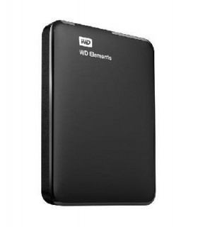 External HDD  WESTERN DIGITAL  Elements Portable  500GB  USB 3 0  Colour Black  WDBUZG5000ABK-WESN