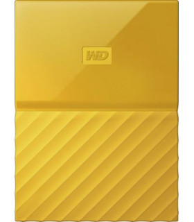 External HDD  WESTERN DIGITAL  My Passport  4TB  USB 3 0  Colour Yellow  WDBYFT0040BYL-WESN