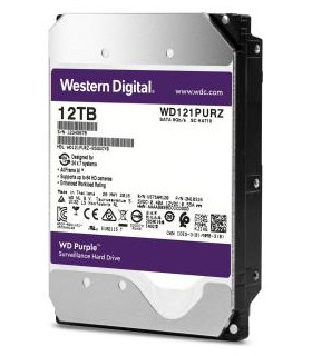 HDD  WESTERN DIGITAL  Purple  12TB  SATA 3 0  256 MB  7200 rpm  3,5   WD121PURZ