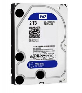 HDD  WESTERN DIGITAL  Blue  2TB  SATA 3 0  64 MB  5400 rpm  3,5   WD20EZRZ