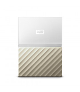 External HDD  WESTERN DIGITAL  My Passport Ultra  2TB  USB 3 0  Colour White / Gold  WDBTLG0020BGD-WESN