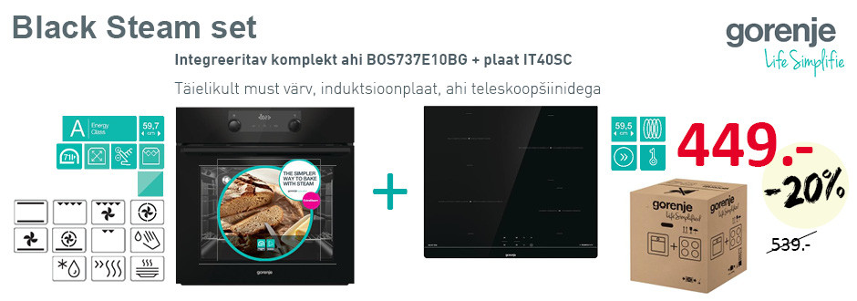 Gorenje black steam set